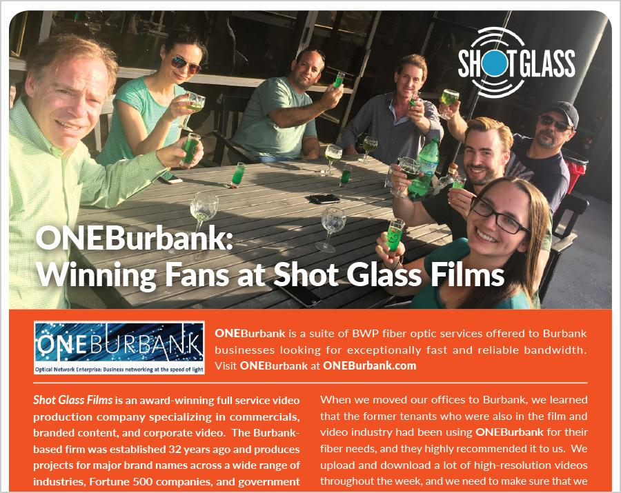 ONEBurbank Service is Winning Fans at Shot Glass Films