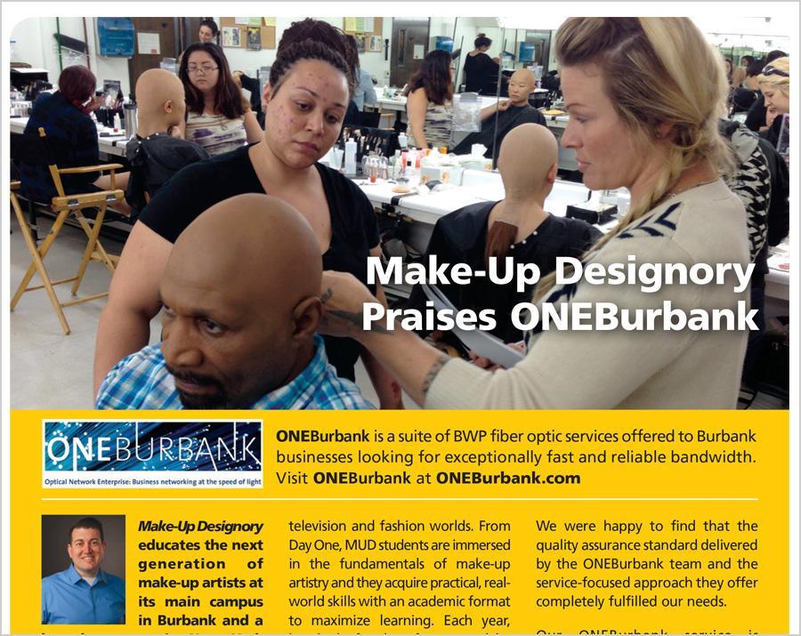 Make-Up Designory Praises ONEBurbank
