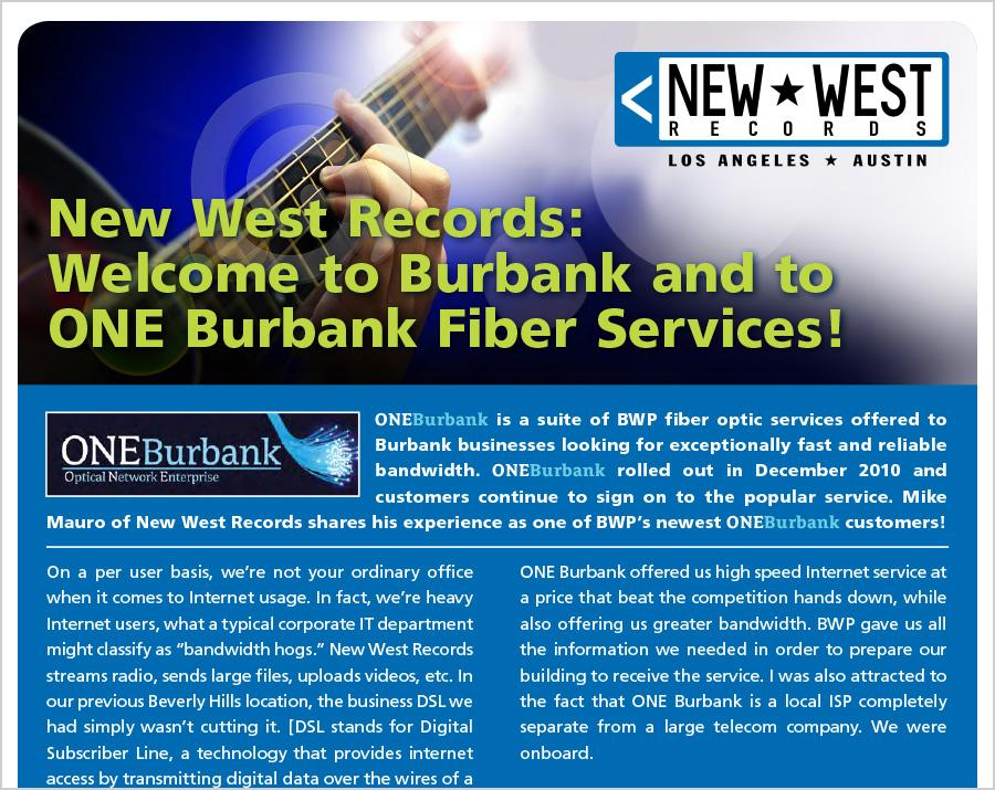 ONEBurbank Welcomes New West Records